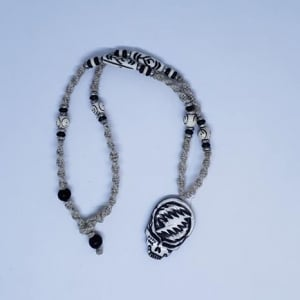 Grateful Dead Stealie Bone Necklace