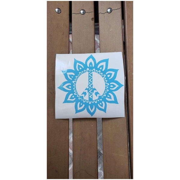 Peace Flower Vinyl Sticker
