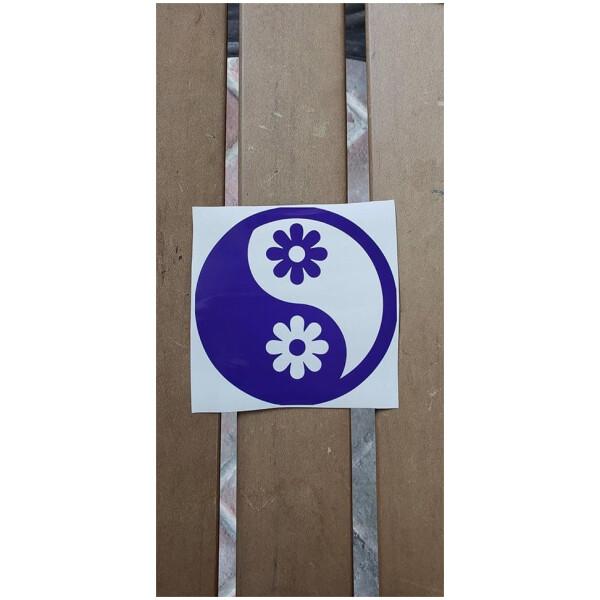 Yin Yang Flower Vinyl Sticker