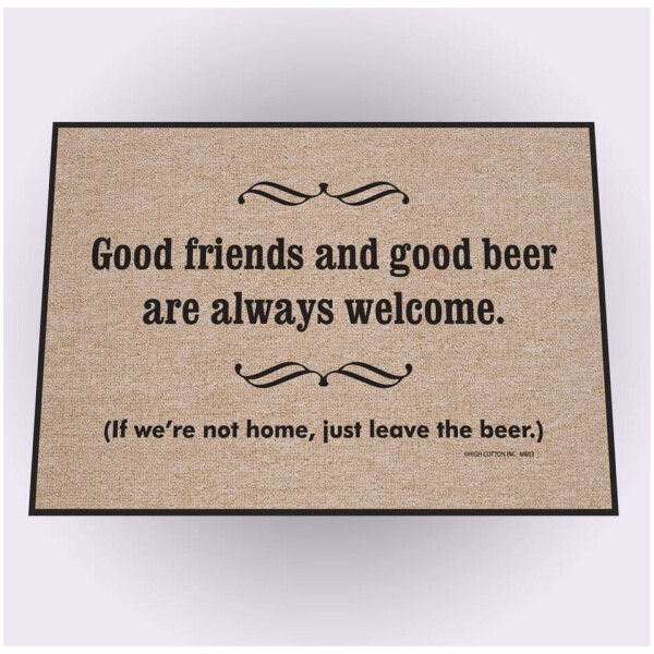 Good Friends Good Beer Doormat
