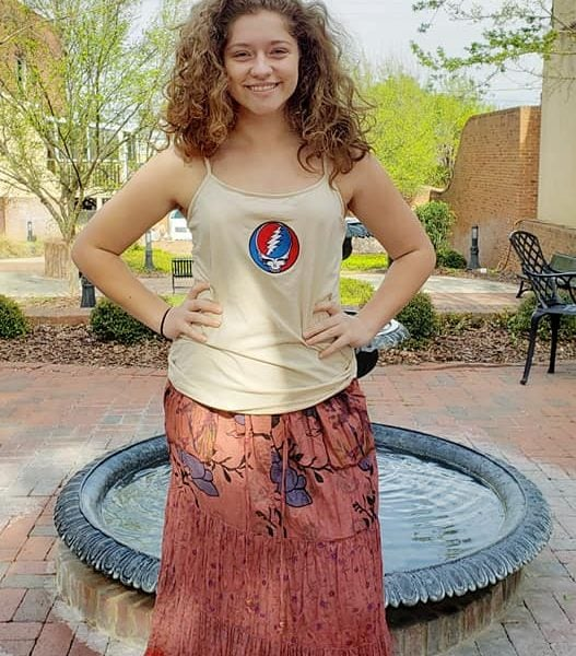 Grateful Dead Embroidered Steal Your Face Tank Top.