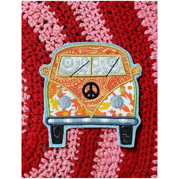 Hippie Van Embroidered Applique