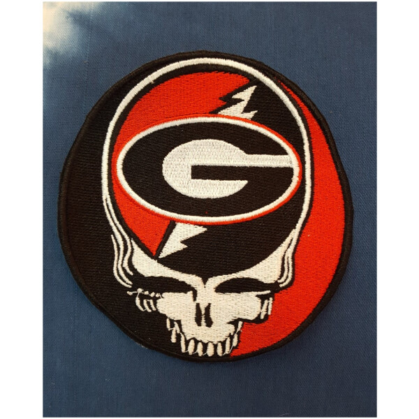 Grateful Dead University of Georgia Steal Your Face Embroidered patch
