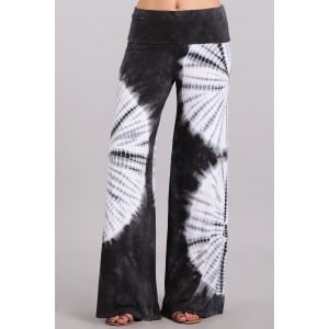 Tie Dyed Palazzo Pants in Grey