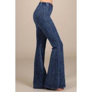 Denim Colored Bell Bottom Pants