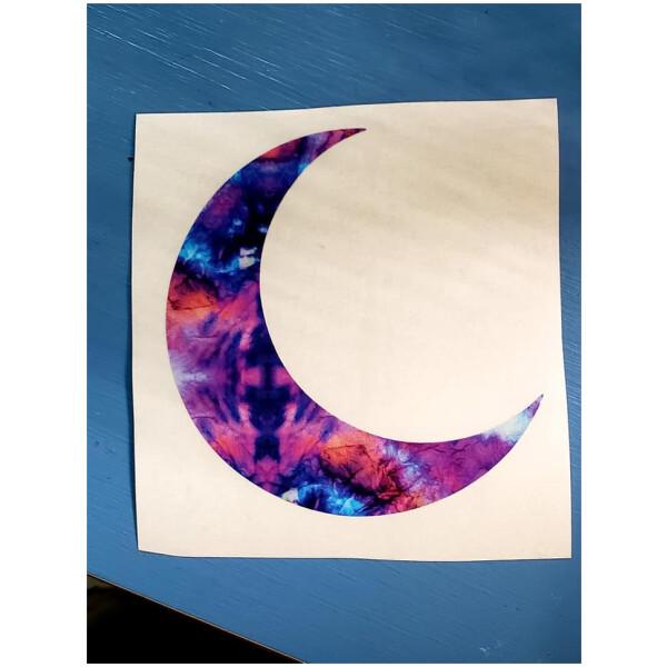 Half Moon Watercolor Vinyl Sticker