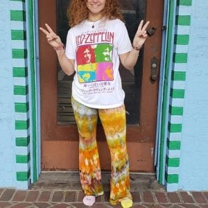Tie Dyed pants - flared bell bottom pants