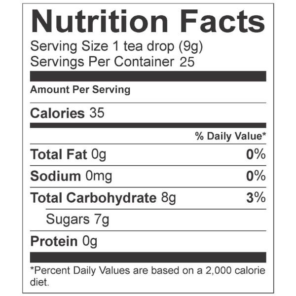 Rose Earl Grey Tea - Nutrition Label