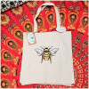 Save the Bees embroidered Market Bag