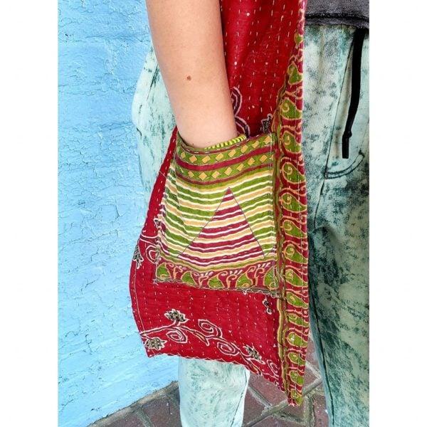 Kantha Scarf - detail work