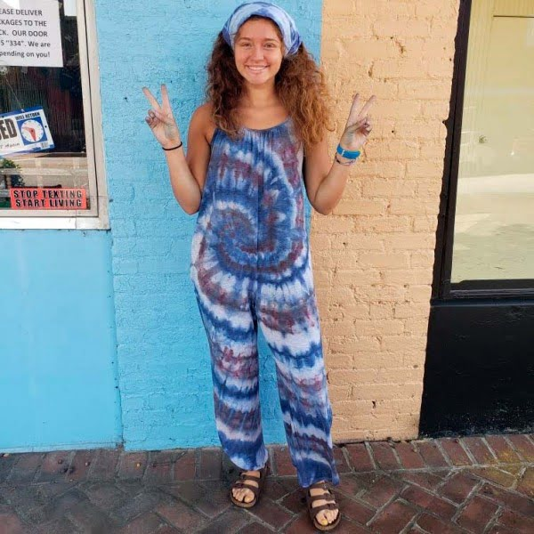 Tie Dye Jumpsuit by Little Hippie Chick - Light Swirl