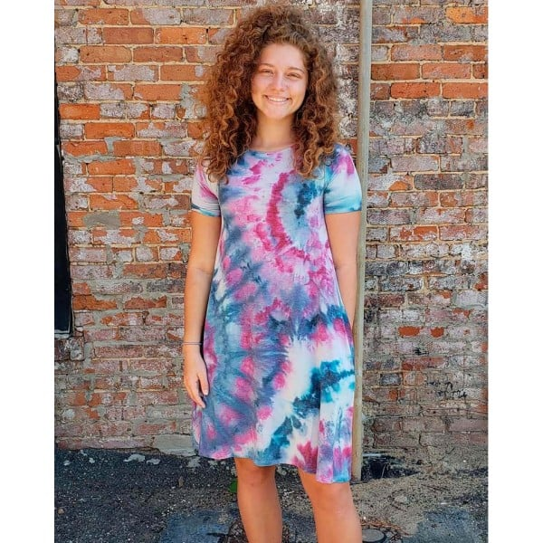 Hey Shortie Tie Dye Dress