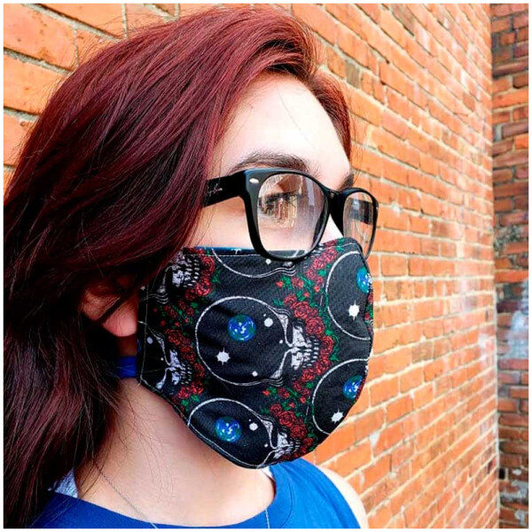 Grateful Dead Face Mask Cover - Stealie Style