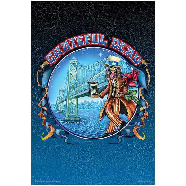 Grateful Dead Bay Bridge Poster