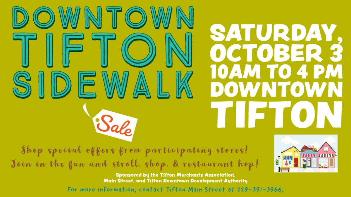 Downtown Tifton Sidewalk Sale