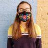 Embroidered Masks - Black