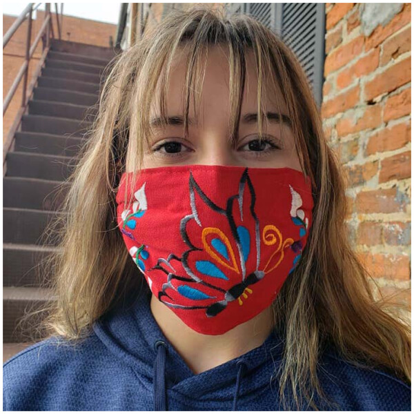 Embroidered Masks - Red
