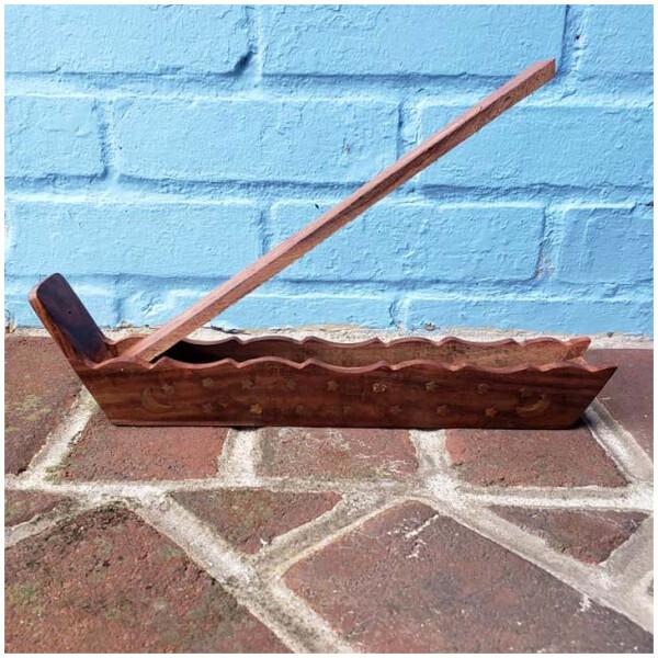 Wooden Box Flip Top Incense Burner