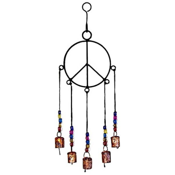 Peace Sign Bell Windchime