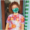 Tie Dyed Masks - Green