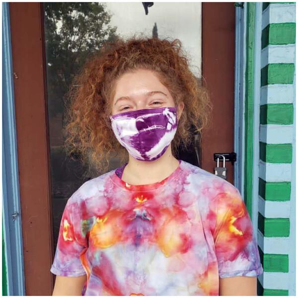 Tie Dyed Masks - Purple
