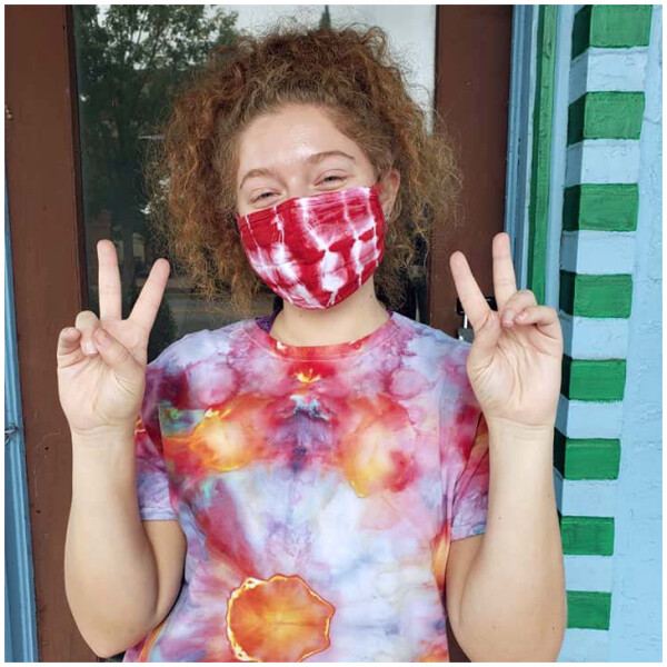 Tie Dyed Masks - Red