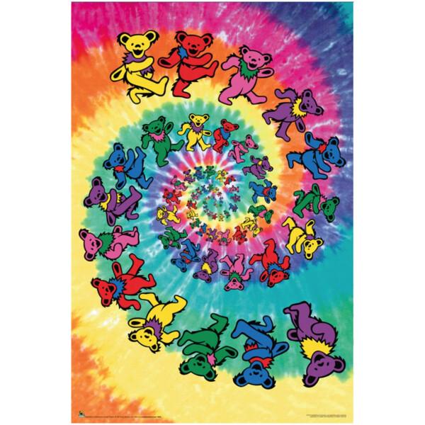 Grateful Dead Spiral Bears Poster
