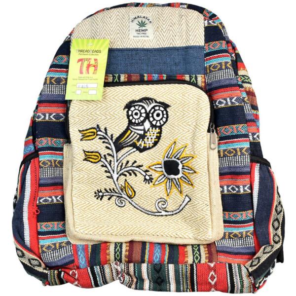 ThreadHeads Himalayan Hemp Fancy Owl Backpack