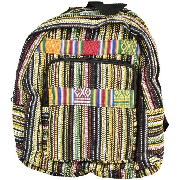 Striped Backpack w/ Rainbow Accents