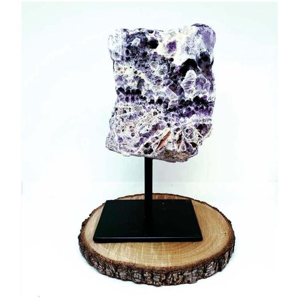 Crystal Stands - Chevron Amethyst