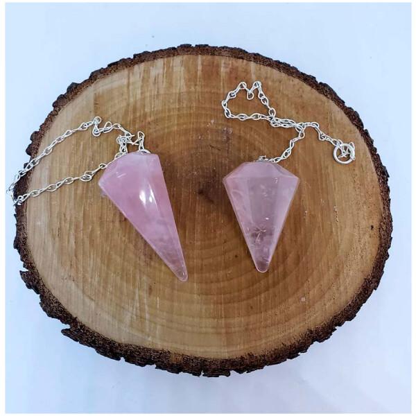 Crystal Pendulums - Rose Quartz