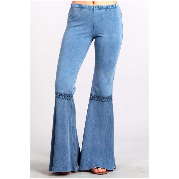 Lace Accent Festival Pants