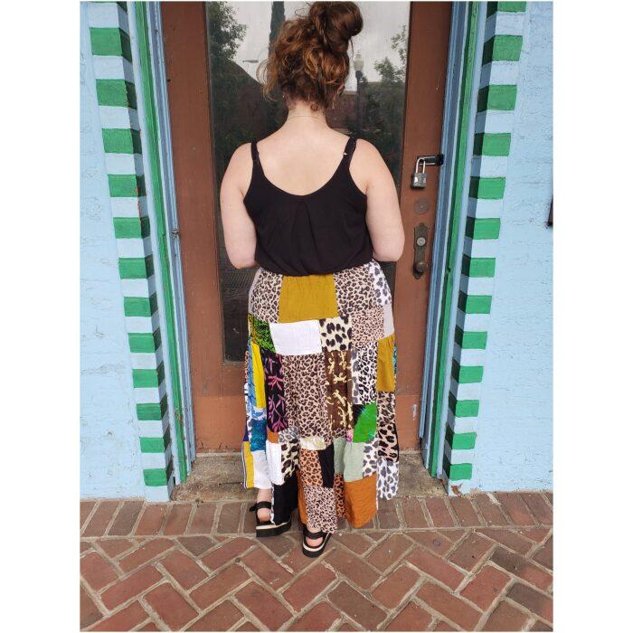 Long Patchwork Skirt