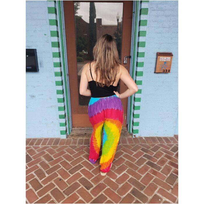 Rainbow Spiral Tie Dye Pants
