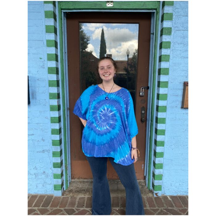 Spiral Tie Dyed Poncho
