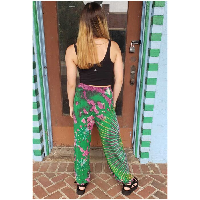 Tie Dyed Harem Pants - Green