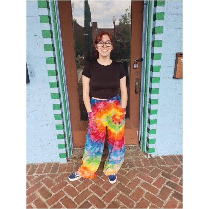 Rainbow Tie Dyed Woven Pants