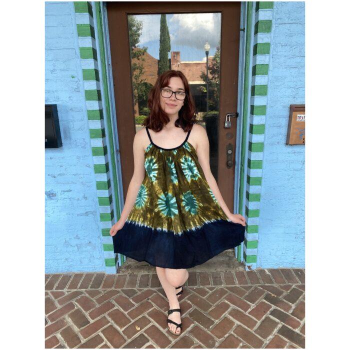 Tie Dye Parachute Dress