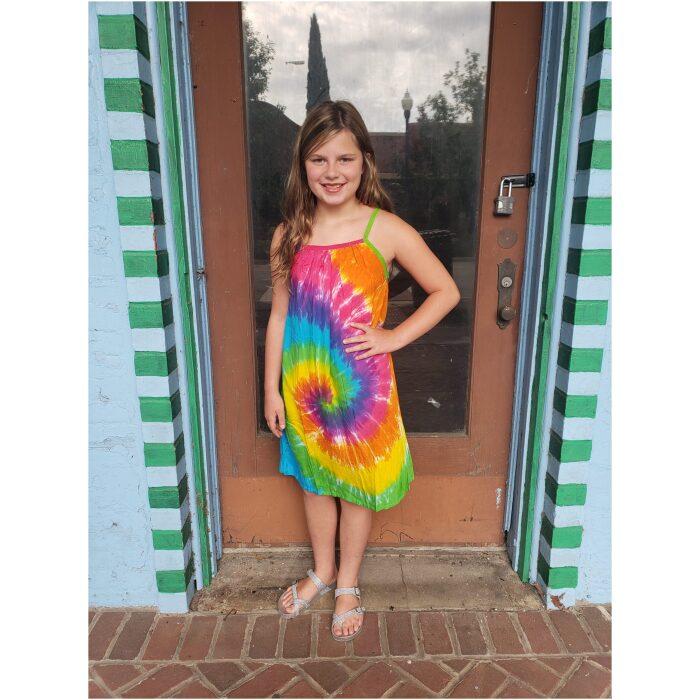 Kids Tie Dyed Parachute Dress