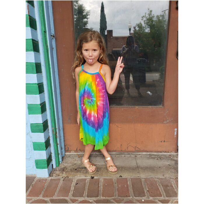 Tie Dye Parachute Dress kids