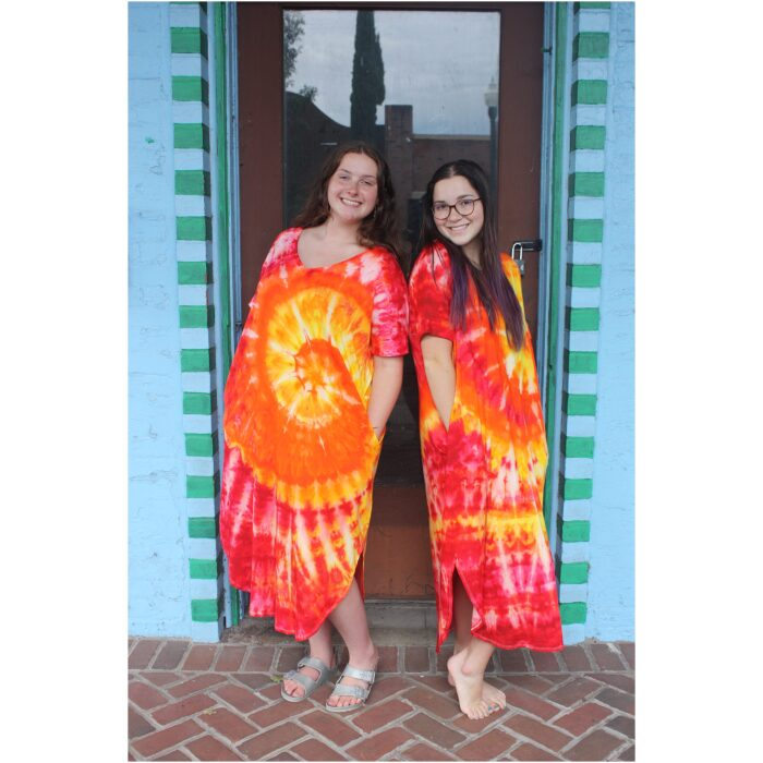 Fire on the Mountain Tie Dyed Oversized Dress